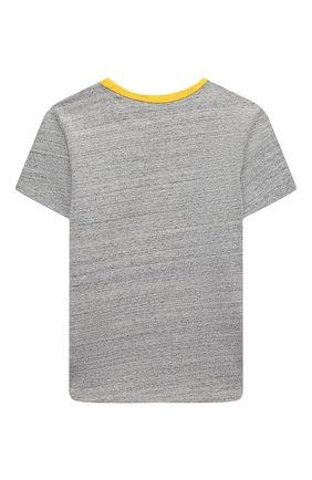 Детская хлопковая футболка MARC JACOBS (THE) серого цвета, арт. W15533 | Фото 2