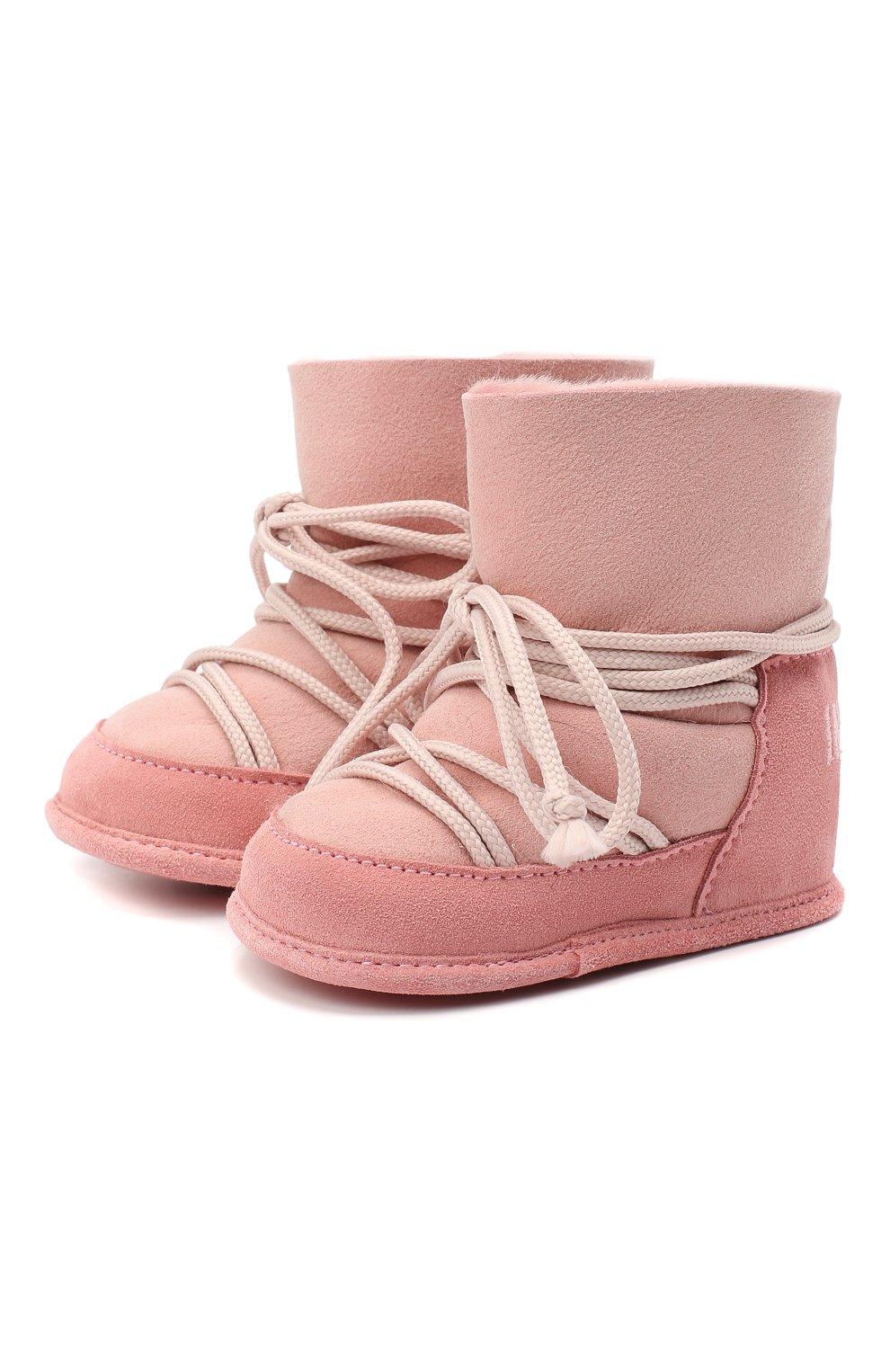 Детского замшевые ботинки INUIKII розового цвета, арт. 68302-50 | Фото 1