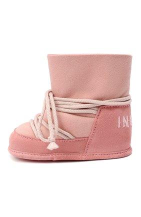 Детского замшевые ботинки INUIKII розового цвета, арт. 68302-50 | Фото 2