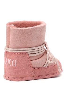 Детского замшевые ботинки INUIKII розового цвета, арт. 68302-50 | Фото 3