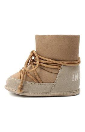 Детского замшевые ботинки INUIKII бежевого цвета, арт. 68302-50 | Фото 2