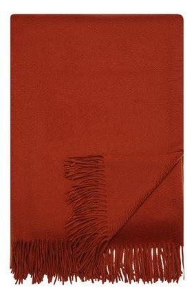Кашемировый плед LORO PIANA оранжевого цвета, арт. FAA1158   Фото 1
