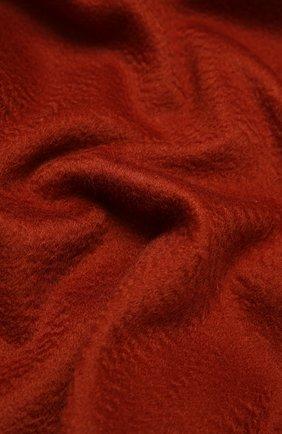 Кашемировый плед LORO PIANA оранжевого цвета, арт. FAA1158   Фото 2
