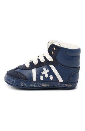 Детские кожаные кроссовки PREMIATA WILL BE синего цвета, арт. 11-00CU_BT09 | Фото 2