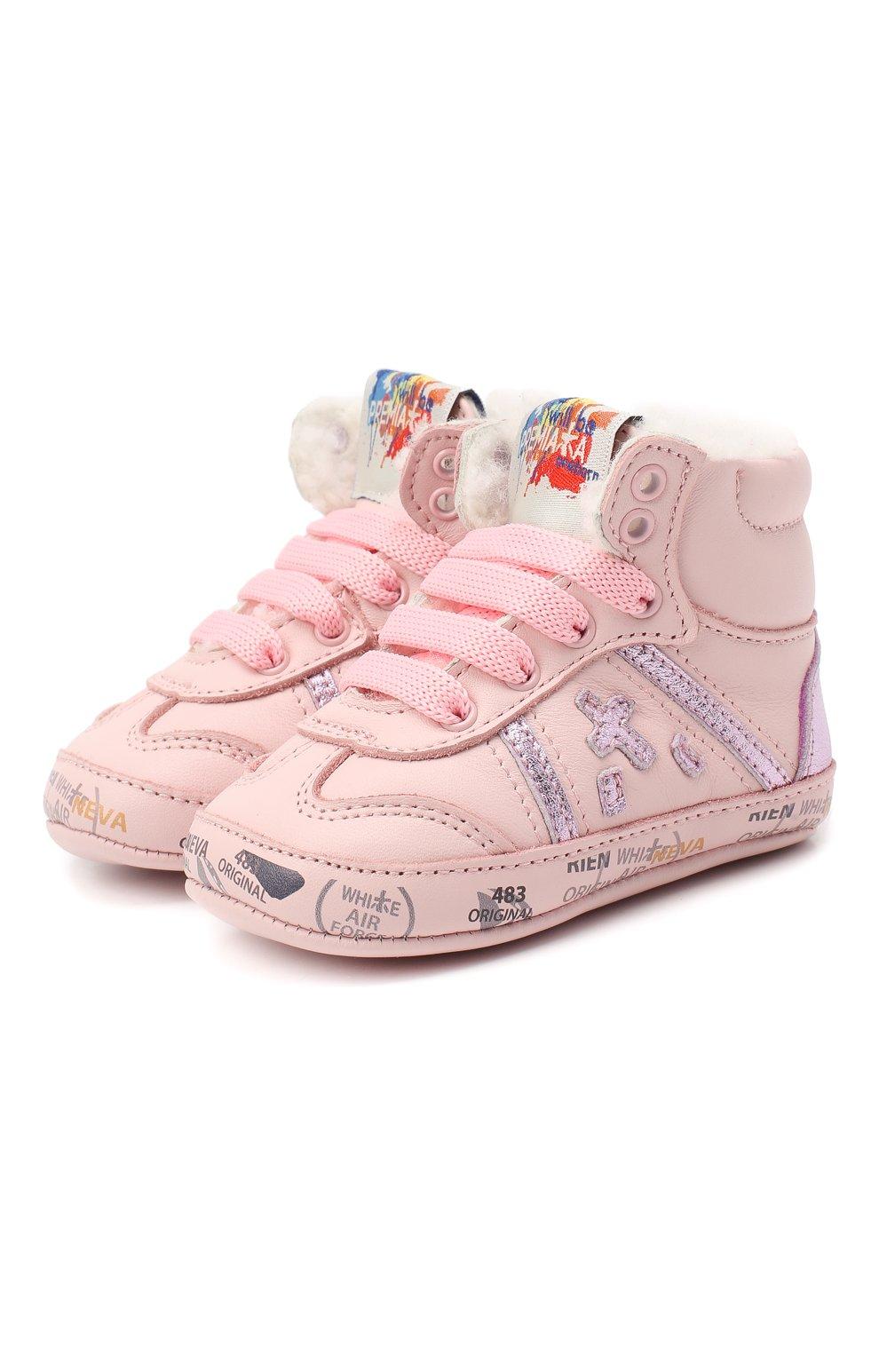 Детского кожаные кроссовки PREMIATA WILL BE светло-розового цвета, арт. 11-00CU_BT10 | Фото 1