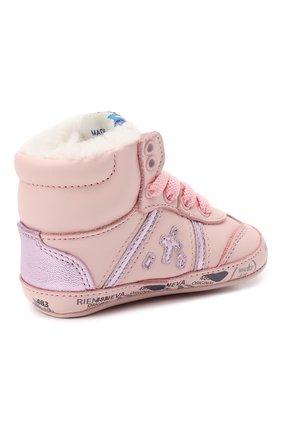 Детского кожаные кроссовки PREMIATA WILL BE светло-розового цвета, арт. 11-00CU_BT10 | Фото 3