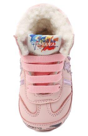 Детского кожаные кроссовки PREMIATA WILL BE светло-розового цвета, арт. 11-00CU_BT10 | Фото 4