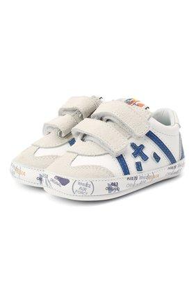 Детского кожаные кроссовки PREMIATA WILL BE белого цвета, арт. 11-00CU0001-V | Фото 1