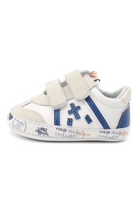 Детского кожаные кроссовки PREMIATA WILL BE белого цвета, арт. 11-00CU0001-V | Фото 2