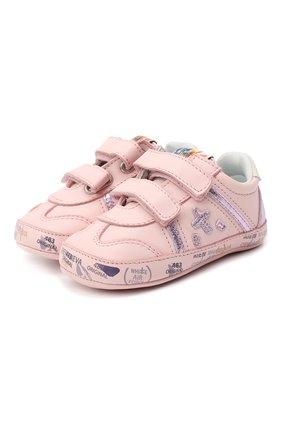 Детского кожаные кроссовки PREMIATA WILL BE светло-розового цвета, арт. 11-00CU0008-V | Фото 1