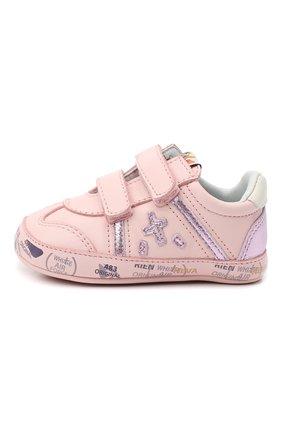 Детского кожаные кроссовки PREMIATA WILL BE светло-розового цвета, арт. 11-00CU0008-V | Фото 2