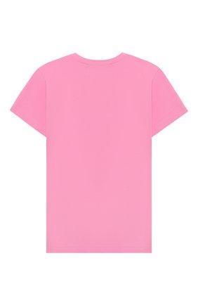 Детская хлопковая футболка NATASHA ZINKO розового цвета, арт. FW20MNZ511-09/10-14 | Фото 2