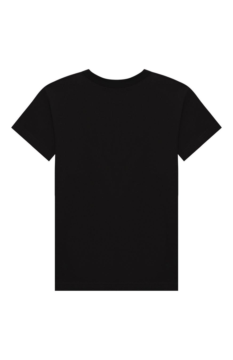 Детская хлопковая футболка NATASHA ZINKO черного цвета, арт. FW20MNZ510-01/10-14 | Фото 2