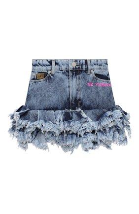 Детская джинсовая юбка NATASHA ZINKO голубого цвета, арт. FW20MNZ307-87/3-8 | Фото 1