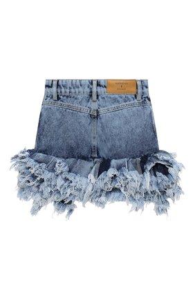 Детская джинсовая юбка NATASHA ZINKO голубого цвета, арт. FW20MNZ307-87/3-8 | Фото 2