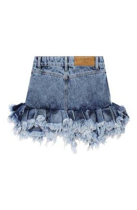 Детская джинсовая юбка NATASHA ZINKO голубого цвета, арт. FW20MNZ307-87/10-14 | Фото 2