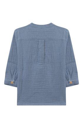 Детский хлопковая блузка LES LUTINS PARIS голубого цвета, арт. 20H336/T0M | Фото 2