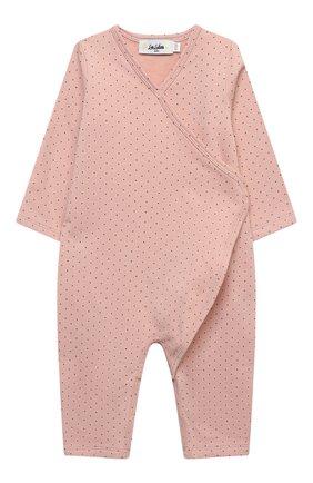 Детский хлопковый комбинезон LES LUTINS PARIS розового цвета, арт. 20H500/PYJAMA 20H1 | Фото 1