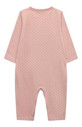 Детский хлопковый комбинезон LES LUTINS PARIS розового цвета, арт. 20H500/PYJAMA 20H1 | Фото 2