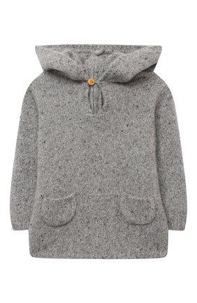 Детского кашемировый пуловер LES LUTINS PARIS серого цвета, арт. 20H085/BURN0U | Фото 1