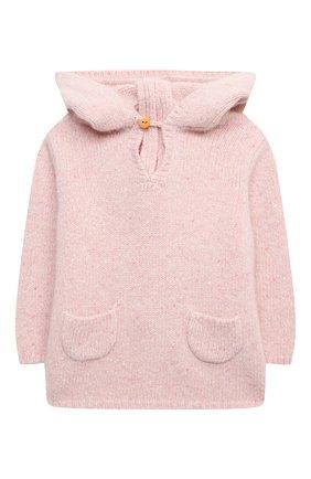 Детского кашемировый пуловер LES LUTINS PARIS розового цвета, арт. 20H085/BURN0U | Фото 1