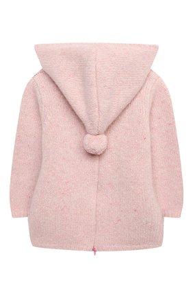 Детского кашемировый пуловер LES LUTINS PARIS розового цвета, арт. 20H085/BURN0U | Фото 2