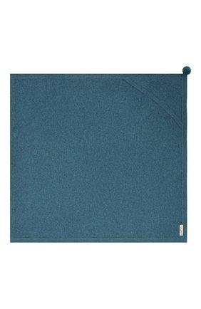 Детского кашемировый плед LES LUTINS PARIS синего цвета, арт. 20H025/CLEMENTINE | Фото 3 (Материал: Кашемир, Шерсть)
