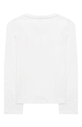 Детская хлопковый лонгслив SONIA RYKIEL ENFANT белого цвета, арт. 20W1TS19 | Фото 2
