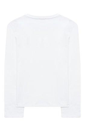 Детская хлопковый лонгслив SONIA RYKIEL ENFANT белого цвета, арт. 20W1TS17 | Фото 2