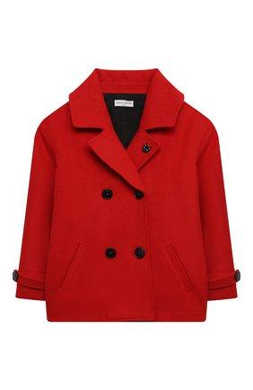 Детское шерстяное пальто SONIA RYKIEL ENFANT красного цвета, арт. 20W10U04 | Фото 1