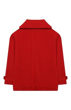 Детское шерстяное пальто SONIA RYKIEL ENFANT красного цвета, арт. 20W10U04 | Фото 2