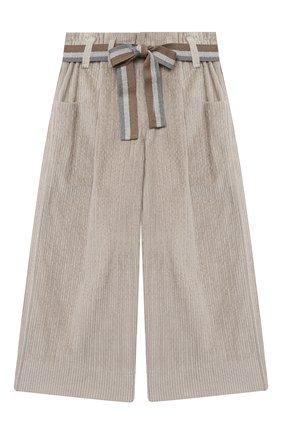 Детские хлопковые брюки BRUNELLO CUCINELLI серого цвета, арт. BB543P024A | Фото 1