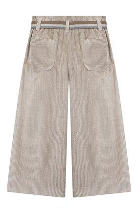 Детские хлопковые брюки BRUNELLO CUCINELLI серого цвета, арт. BB543P024A | Фото 2