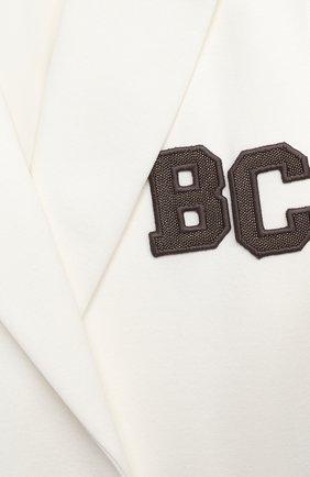 Детский хлопковый жакет BRUNELLO CUCINELLI белого цвета, арт. BF570K005C   Фото 3