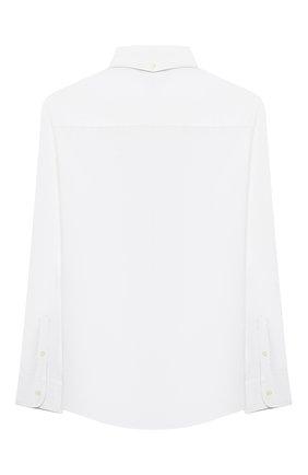 Детская хлопковая рубашка BRUNELLO CUCINELLI белого цвета, арт. BN664C301B | Фото 2