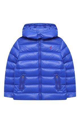 Детского пуховая куртка POLO RALPH LAUREN синего цвета, арт. 313795697 | Фото 1