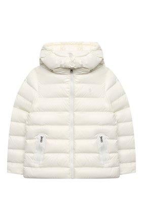 Детского пуховая куртка POLO RALPH LAUREN белого цвета, арт. 313795697 | Фото 1