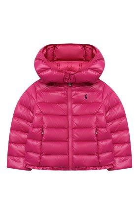 Детского пуховая куртка POLO RALPH LAUREN фуксия цвета, арт. 312795695 | Фото 1