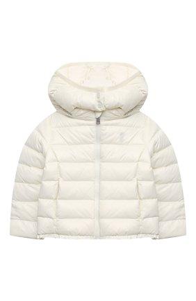 Детского пуховая куртка POLO RALPH LAUREN белого цвета, арт. 312795695 | Фото 1