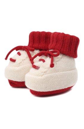 Детские шерстяные носки BABY T красного цвета, арт. 20AI073SA   Фото 1