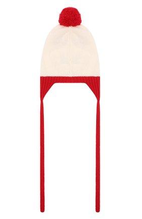 Детского шерстяная шапка BABY T красного цвета, арт. 20AI074CU | Фото 2