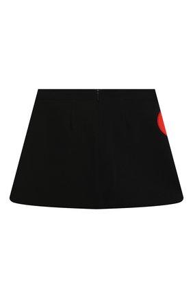 Детская юбка MSGM KIDS черного цвета, арт. 025132 | Фото 2