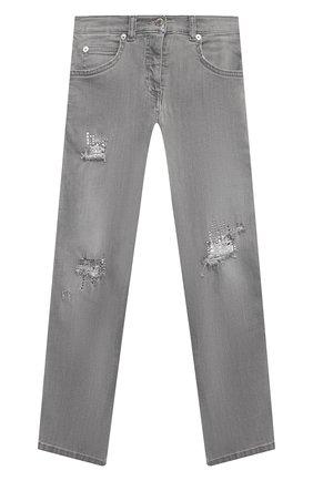 Детские джинсы ERMANNO SCERVINO серого цвета, арт. 47I JL06 JNS/10-16 | Фото 1