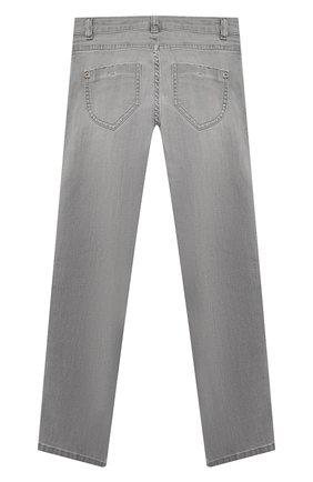 Детские джинсы ERMANNO SCERVINO серого цвета, арт. 47I JL06 JNS/10-16 | Фото 2