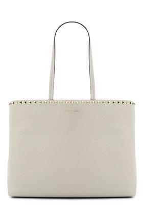 Женский сумка valentino garavani rockstud VALENTINO светло-серого цвета, арт. UW0B0B70/VSF | Фото 1