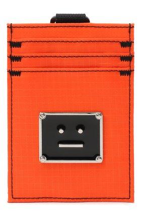 Женский текстильный футляр для кредитных карт ACNE STUDIOS оранжевого цвета, арт. C80037/W   Фото 1