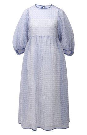 Женское платье CECILIE BAHNSEN голубого цвета, арт. PF20-0051 | Фото 1