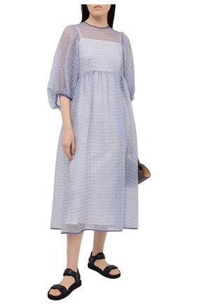 Женское платье CECILIE BAHNSEN голубого цвета, арт. PF20-0051 | Фото 2