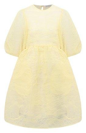 Женское платье CECILIE BAHNSEN желтого цвета, арт. PF20-0057 | Фото 1