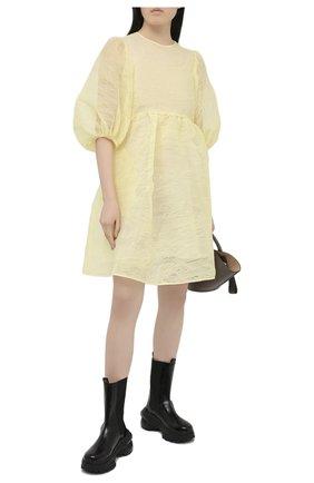 Женское платье CECILIE BAHNSEN желтого цвета, арт. PF20-0057 | Фото 2